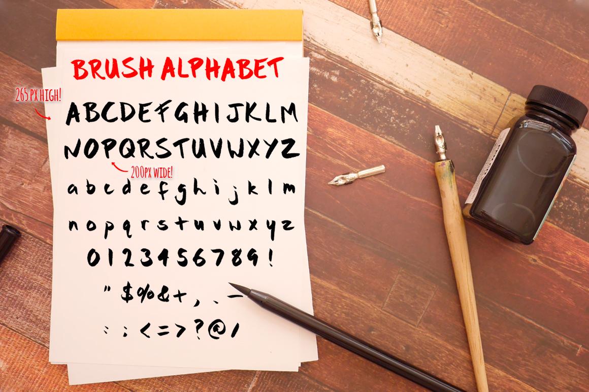 Bold Brush Photoshop Alphabet Set example image 4