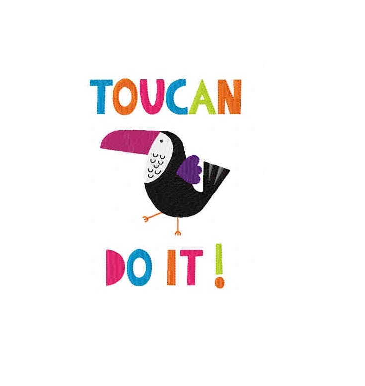 TOUCANDOIT Machine Embroidery Design in 2 sizes example image 1