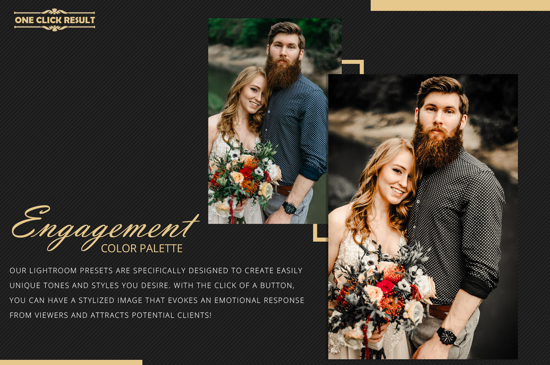 Engagement color grading lightroom presets theme example image 8