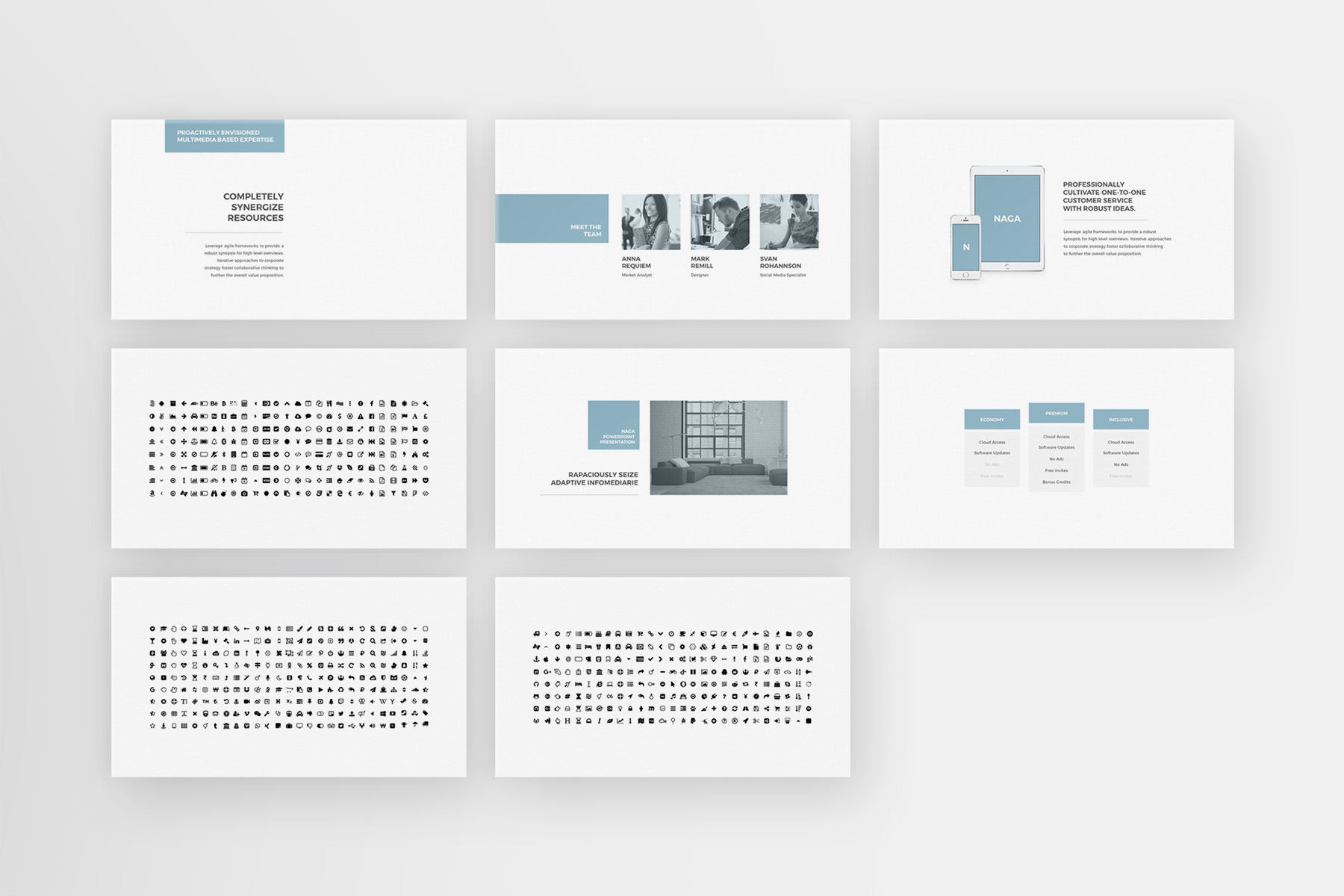 Naga - PowerPoint Template example image 7
