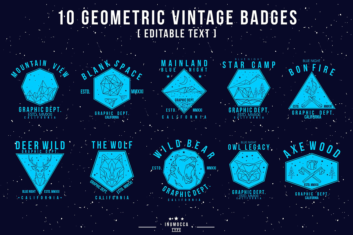 BIG BUNDLE Vintage Badges example image 29