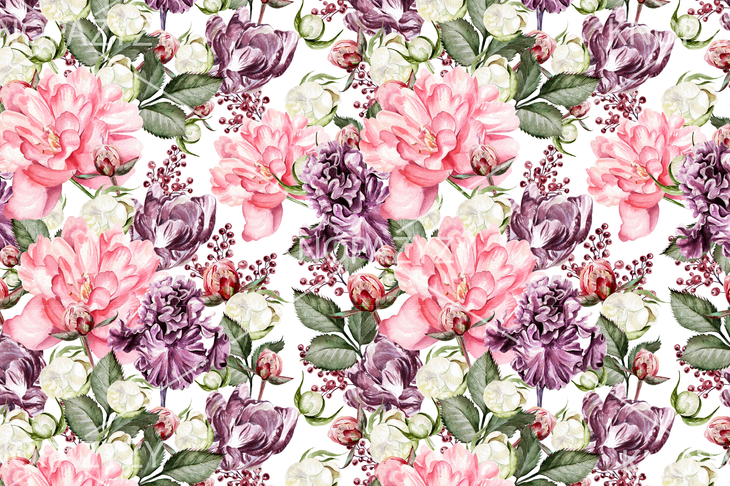 10 Hand Drawn Watercolor Pattern example image 7