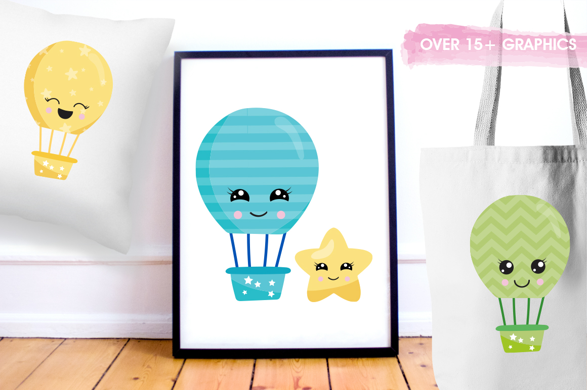Air Balloon graphic and illustrations example image 3