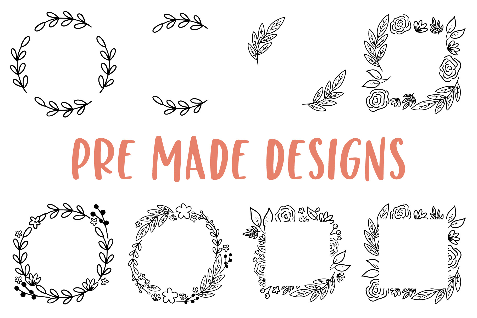 Modern Florals, Hand Drawn Elements & Illustrations example image 3
