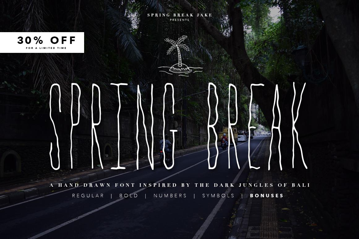 Spring Break Font & Bonus Graphics example image 1