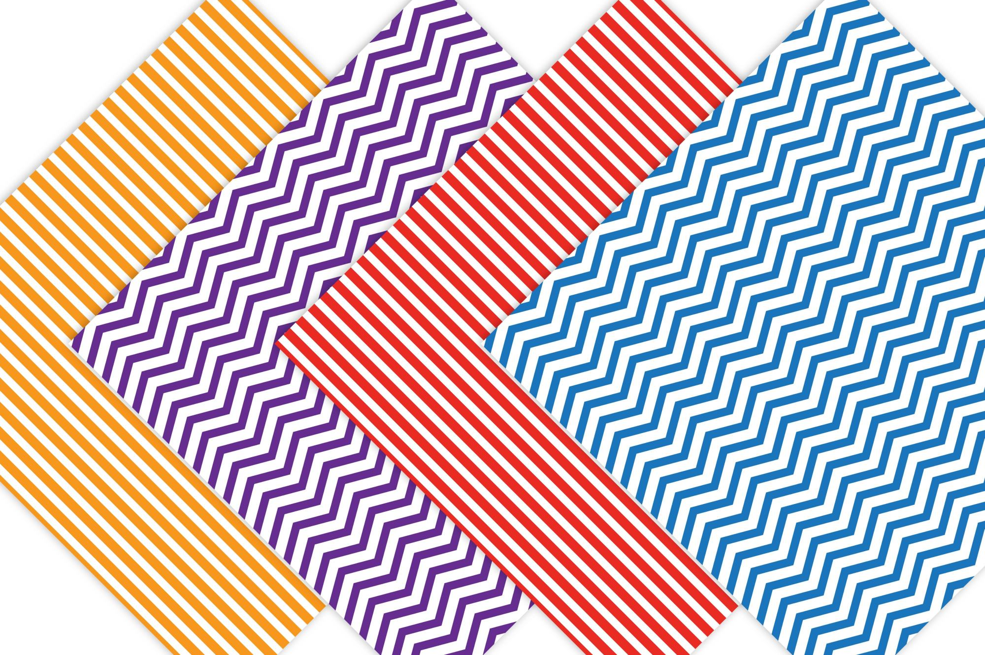 Rainbow Stripes and Chevron Patterns example image 3