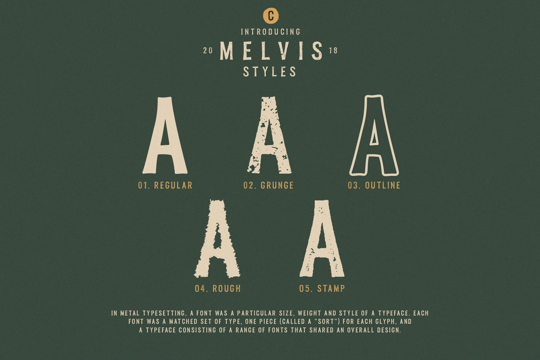 Melvis - Vintage Font Family Extras example image 3