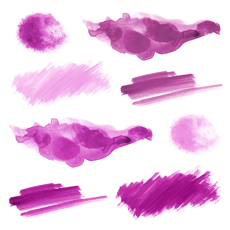 16 Pink Watercolor Design Elements example image 3