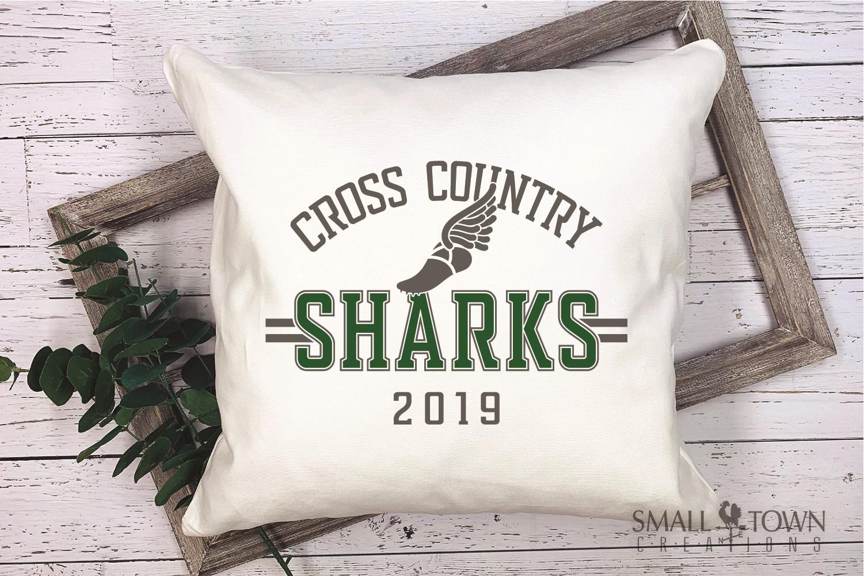 Sharks Cross Country, Shark mascot, PRINT, CUT, DESIGN example image 3
