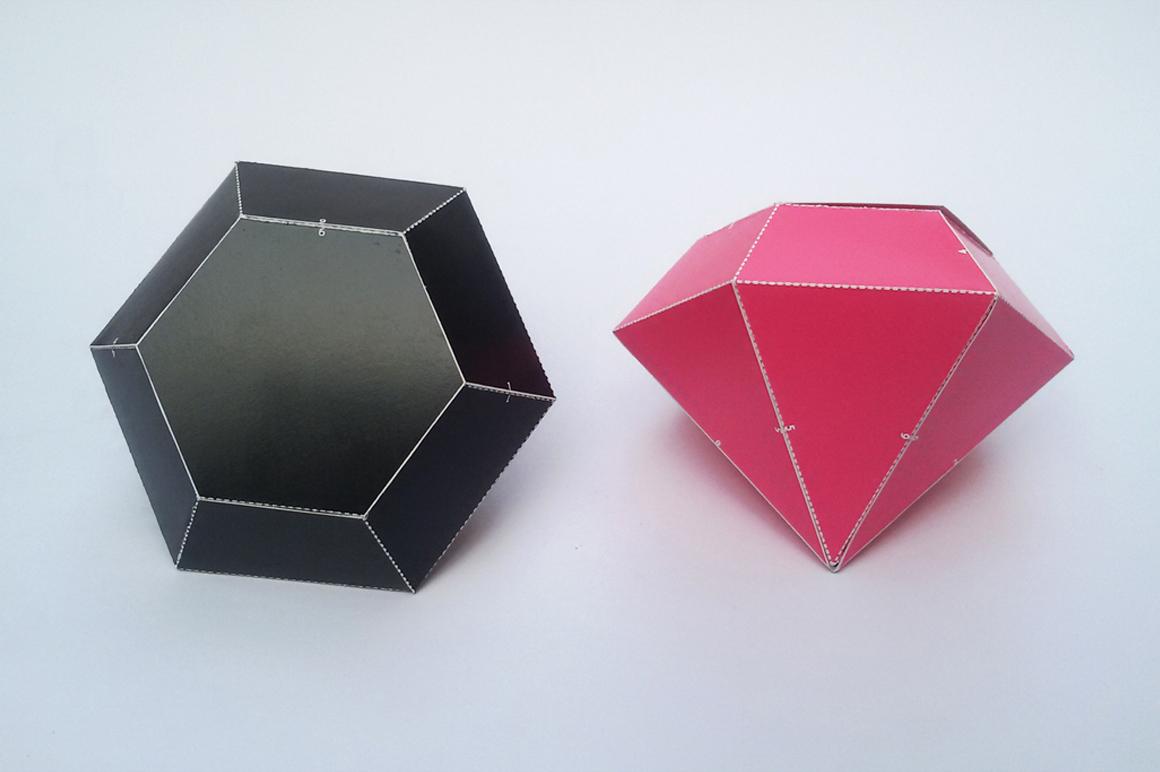 DIY Diamond favor - 3d papercraft example image 4