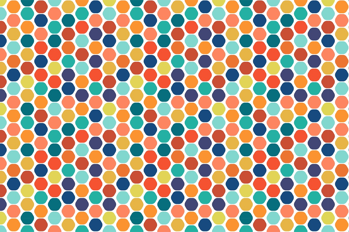 Colorful seamless patterns. example image 16