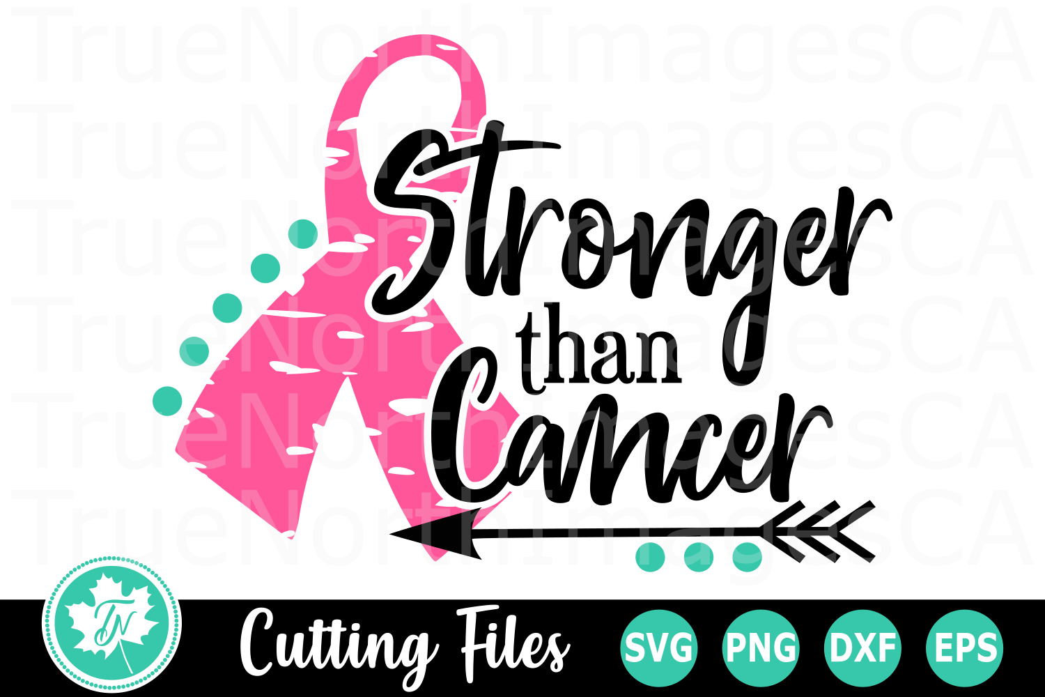 Stronger Than Cancer - An Awareness SVG Cut File example image 1