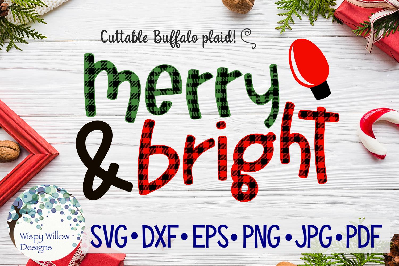Buffalo Plaid Christmas Bundle SVG Cut Files example image 12