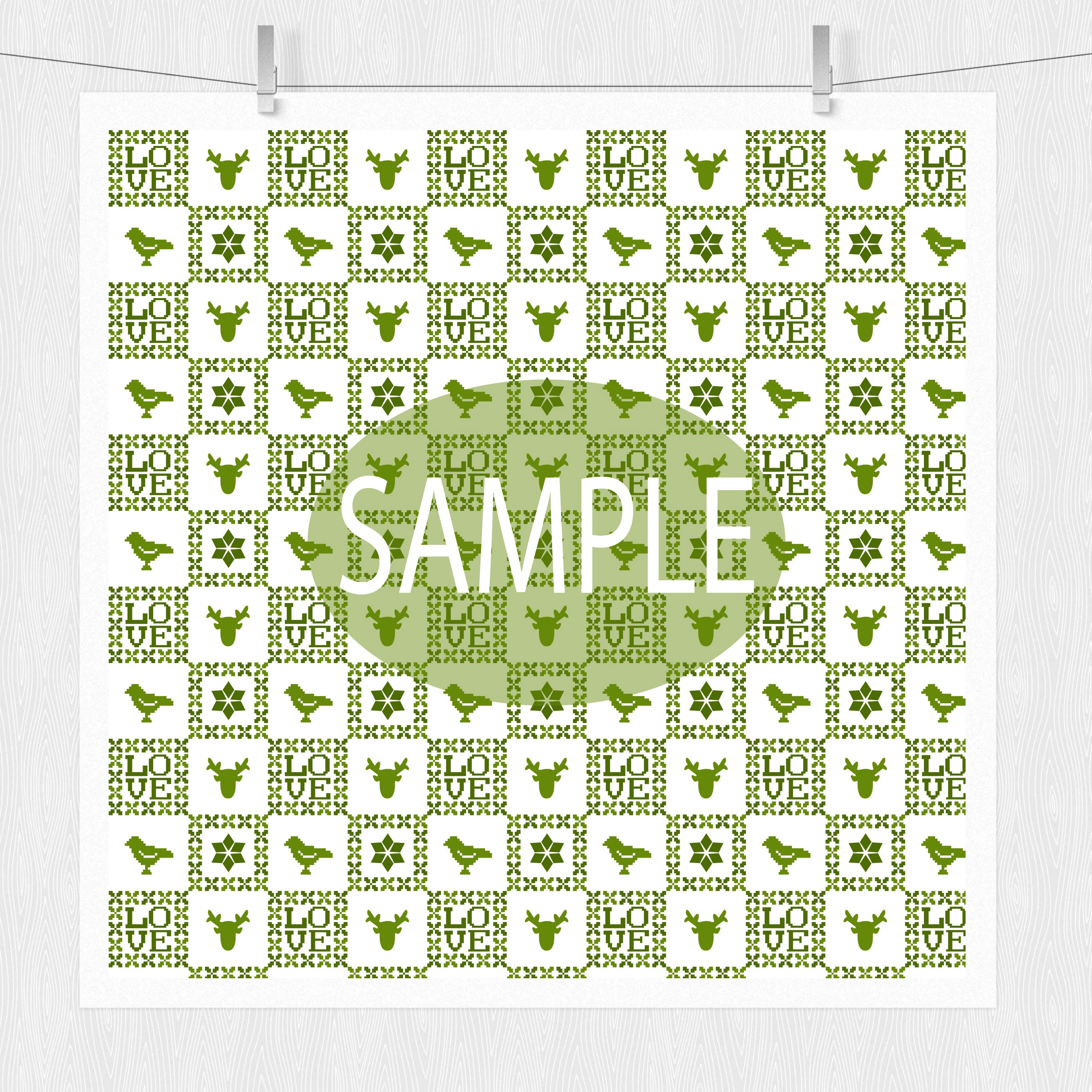 Green Nordic Patterns example image 4