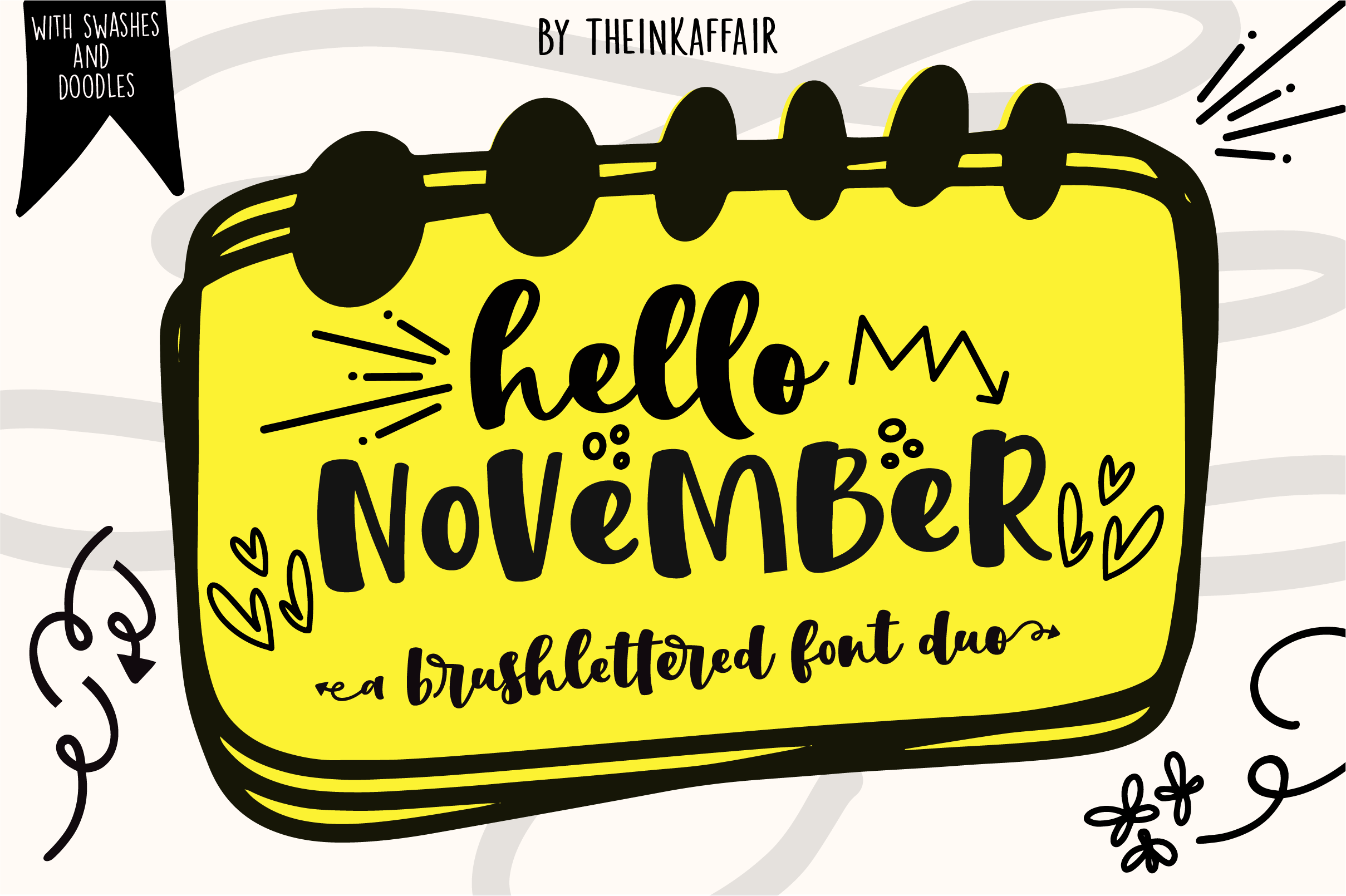 Hello November | Script and Sans font duo example image 1