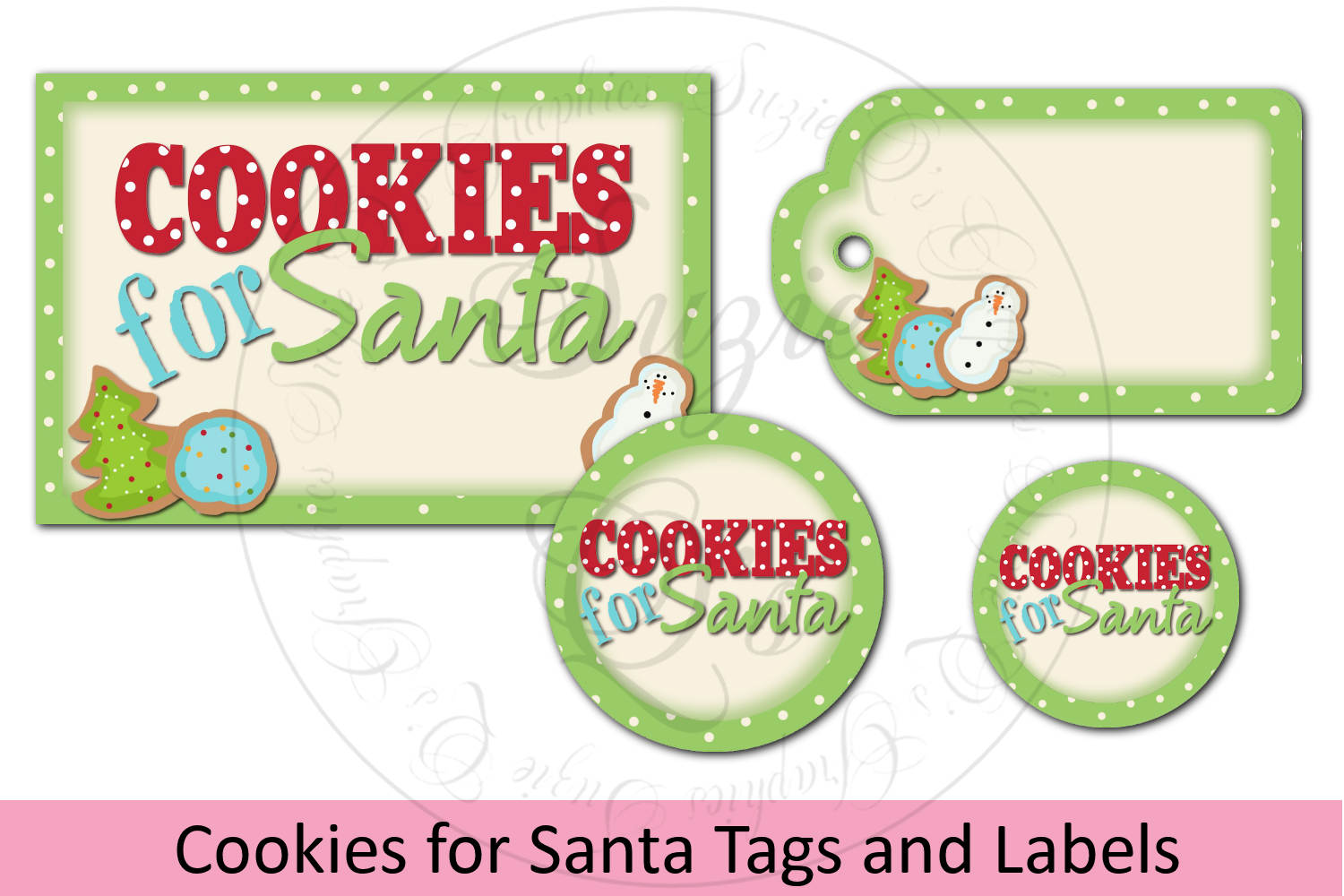 Cookies for Santa Jar Labels and Tag example image 1
