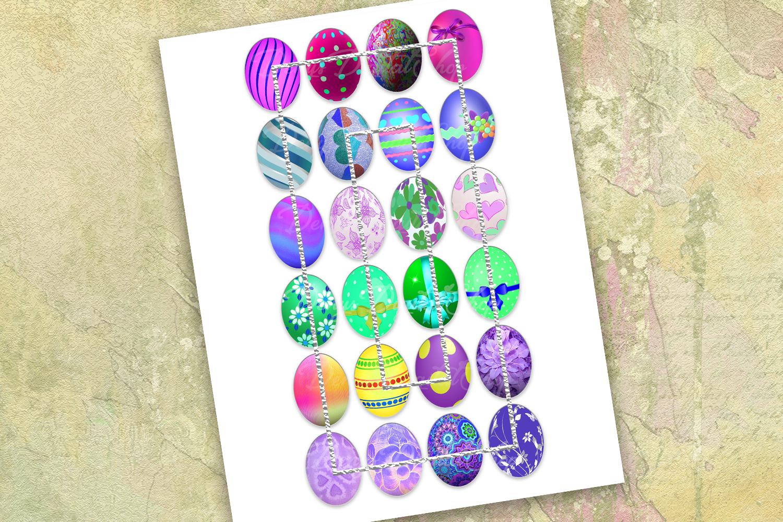 Easter Digital Collage Sheet,Eggs Digital Images,Oval Images example image 2
