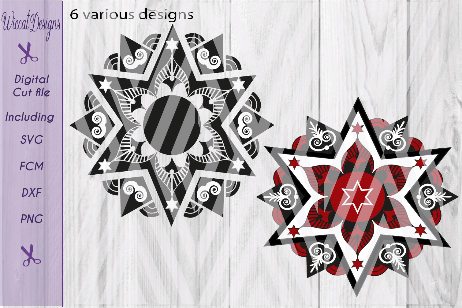 Christmas star svg, Mandala svg, mandala star svg, glass block svg,  Split mandala svg, Monogram svg,  example image 3