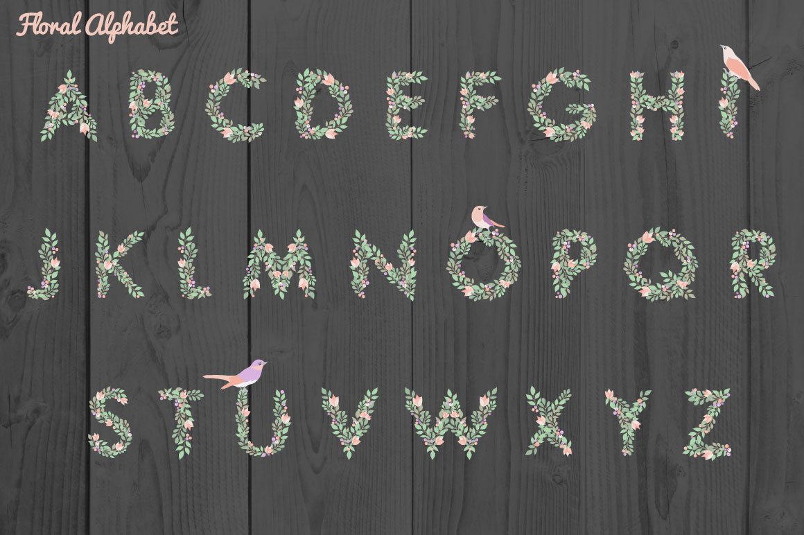 Floral Alphabet example image 2