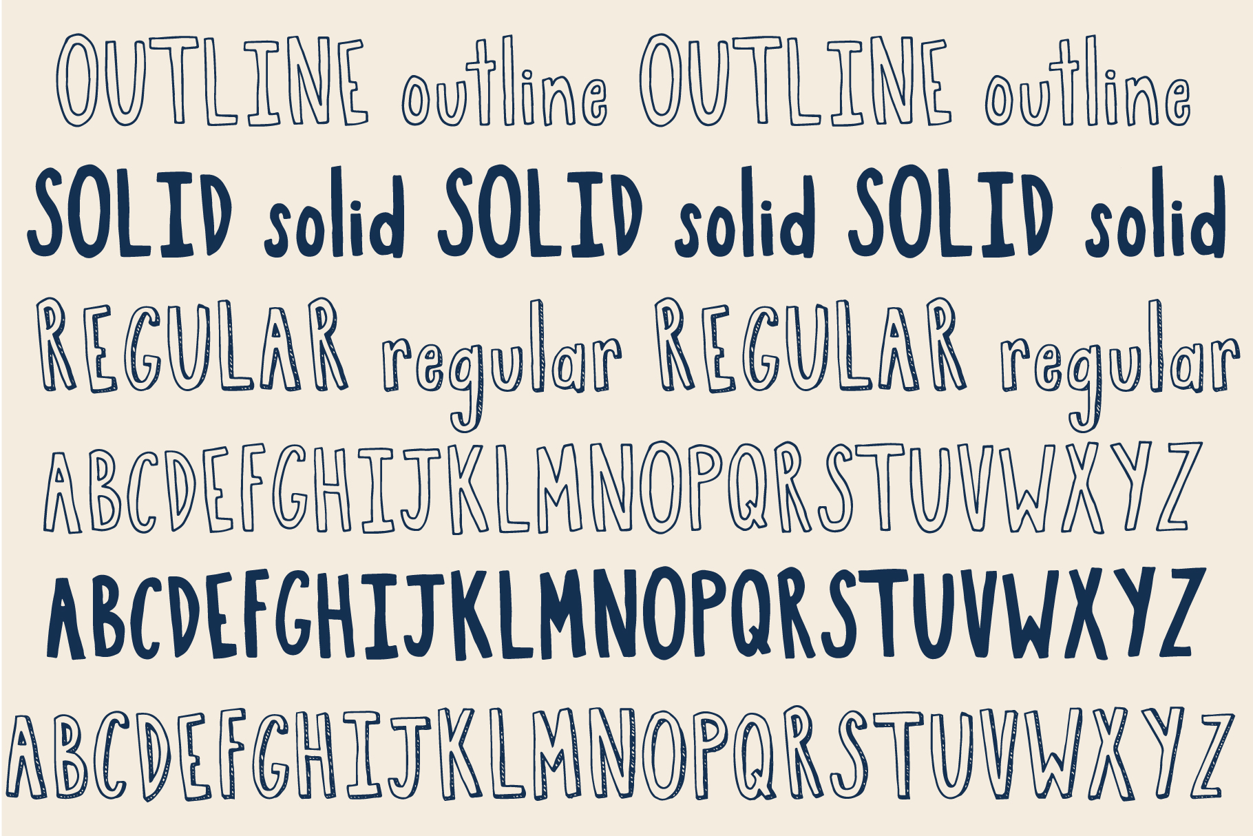 Boston Cream Font Family example image 2