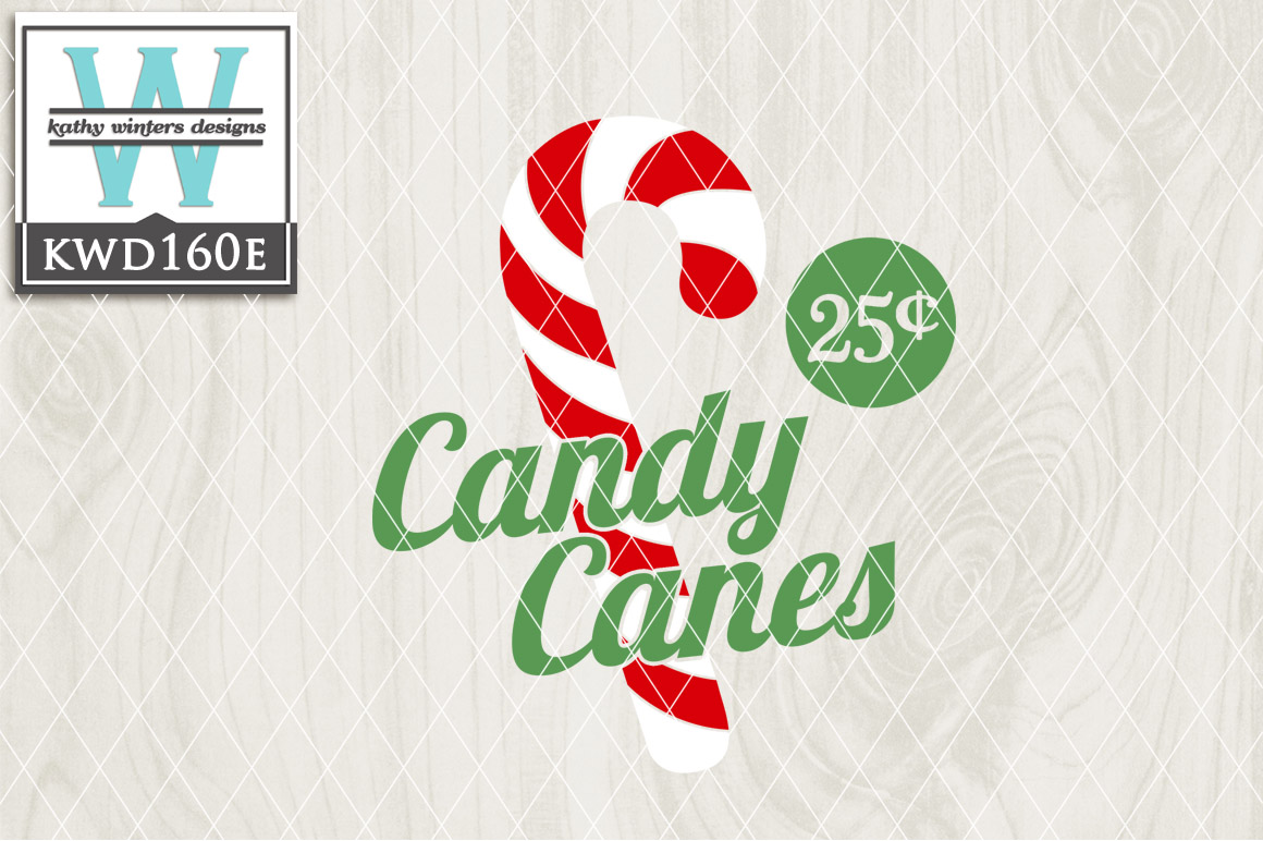 Christmas SVG - Candy Canes KWD160E example image 1