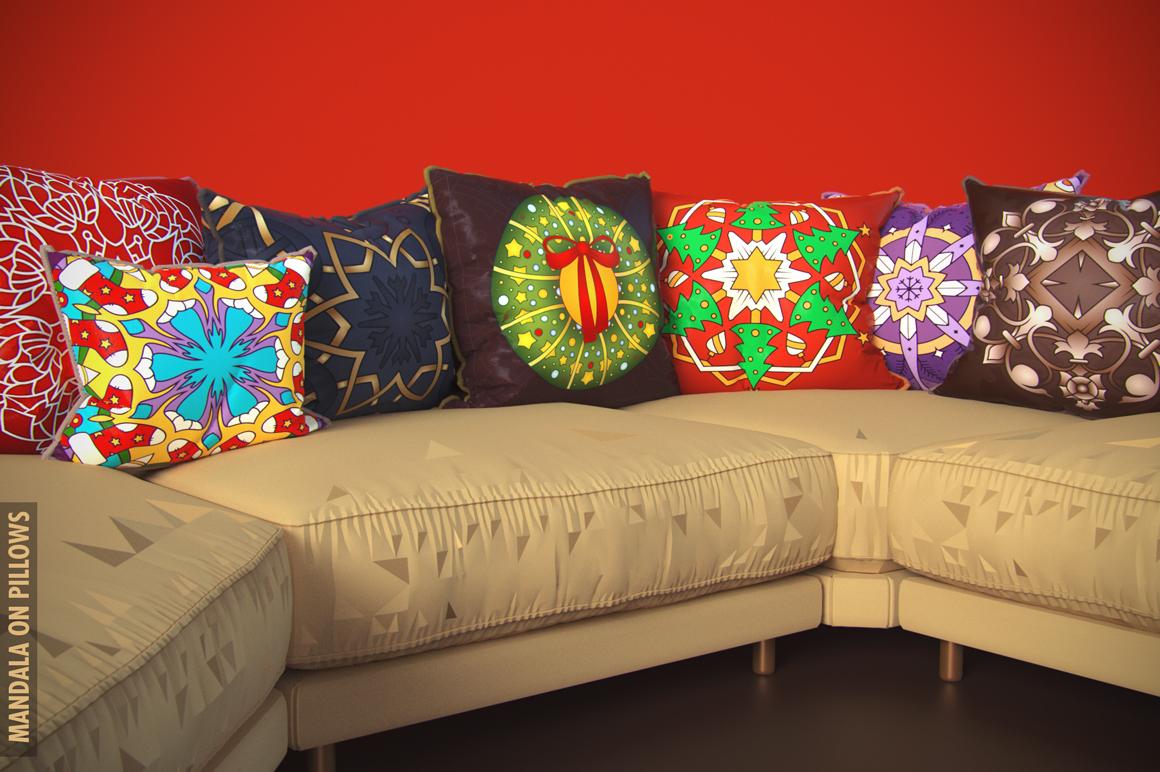 100 Christmas Mandala Ornaments example image 9