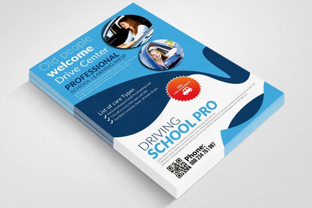 Driving  School Flyer Templates example image 2