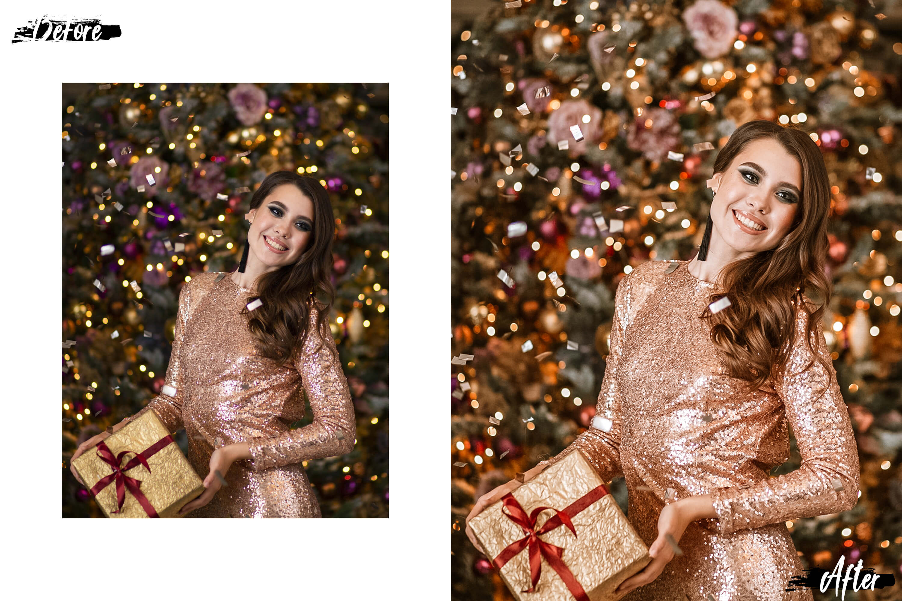 05 Christmas Eve Photoshop Actions, ACR and LUT presets example image 5