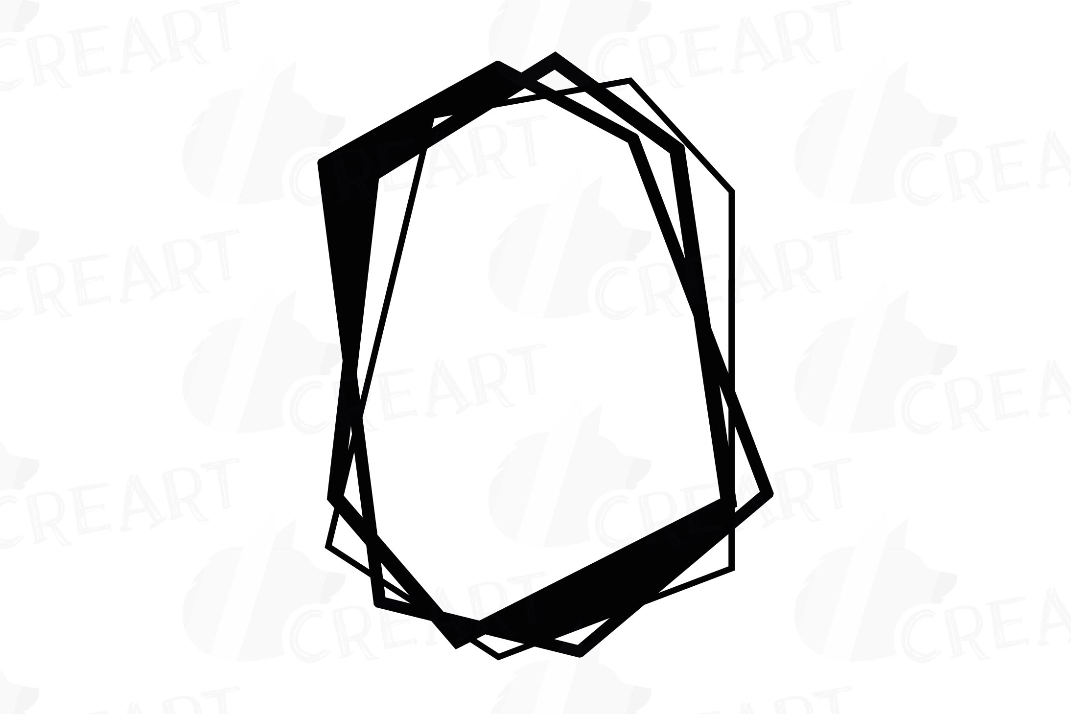 Chaotic geometric black frames, lineal frames clip art example image 5