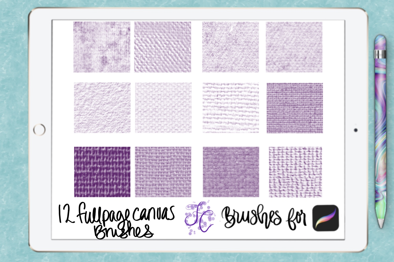 FC-canvas set 1 brushes for PROCREATE example image 2