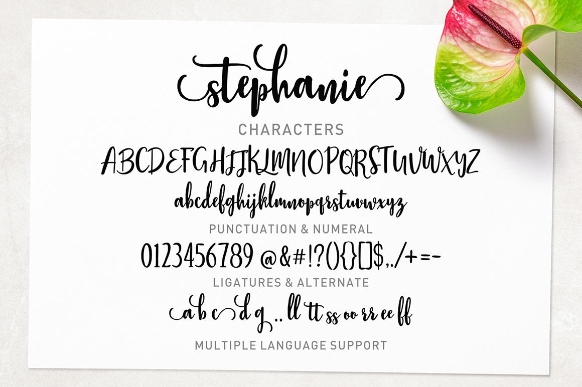 Stephanie Script example image 7