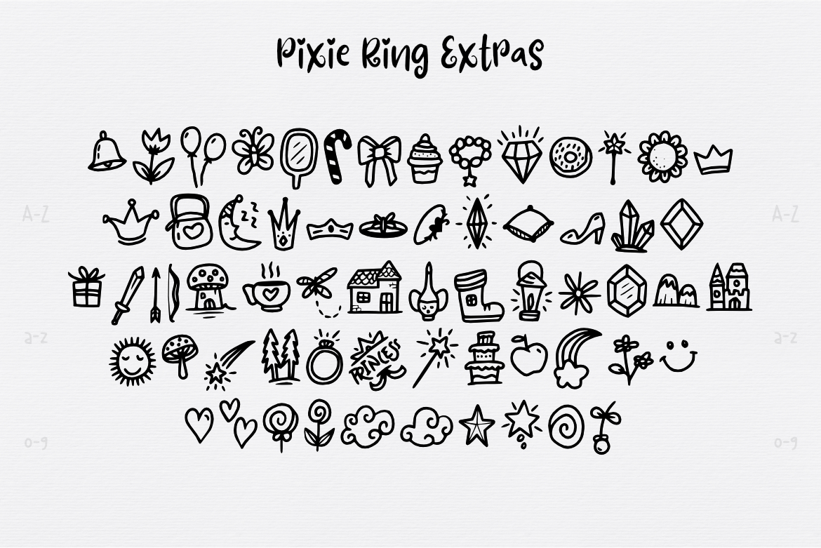 Pixie Ring Font example image 3
