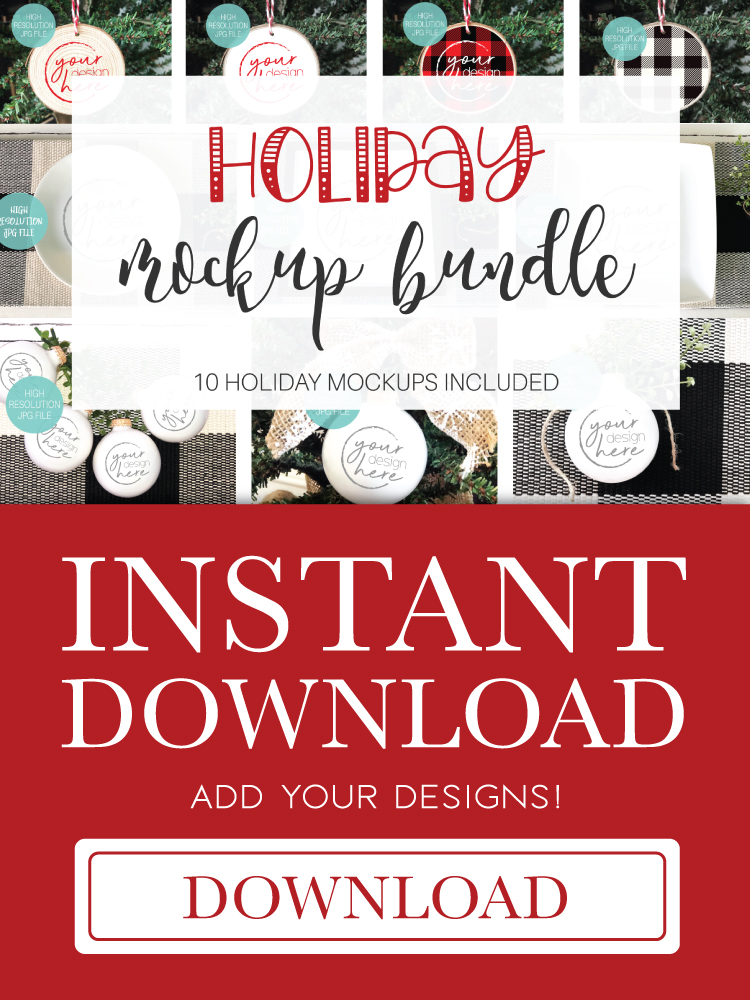 Christmas Holiday Mockup Bundle | 10 Holiday Mockup Bundle example image 12
