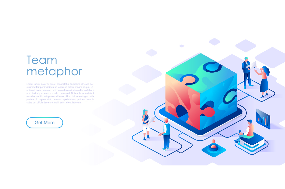 Bundle Isometric Landing Page Template Header example image 6