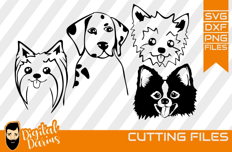 4x Dog svg, Mongrel, Puppy, Doggy, West Terrier, Dalmatian example image 1