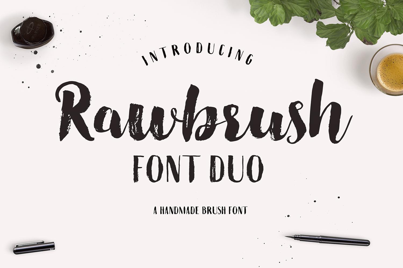 Rawbrush Font Duo example image 1