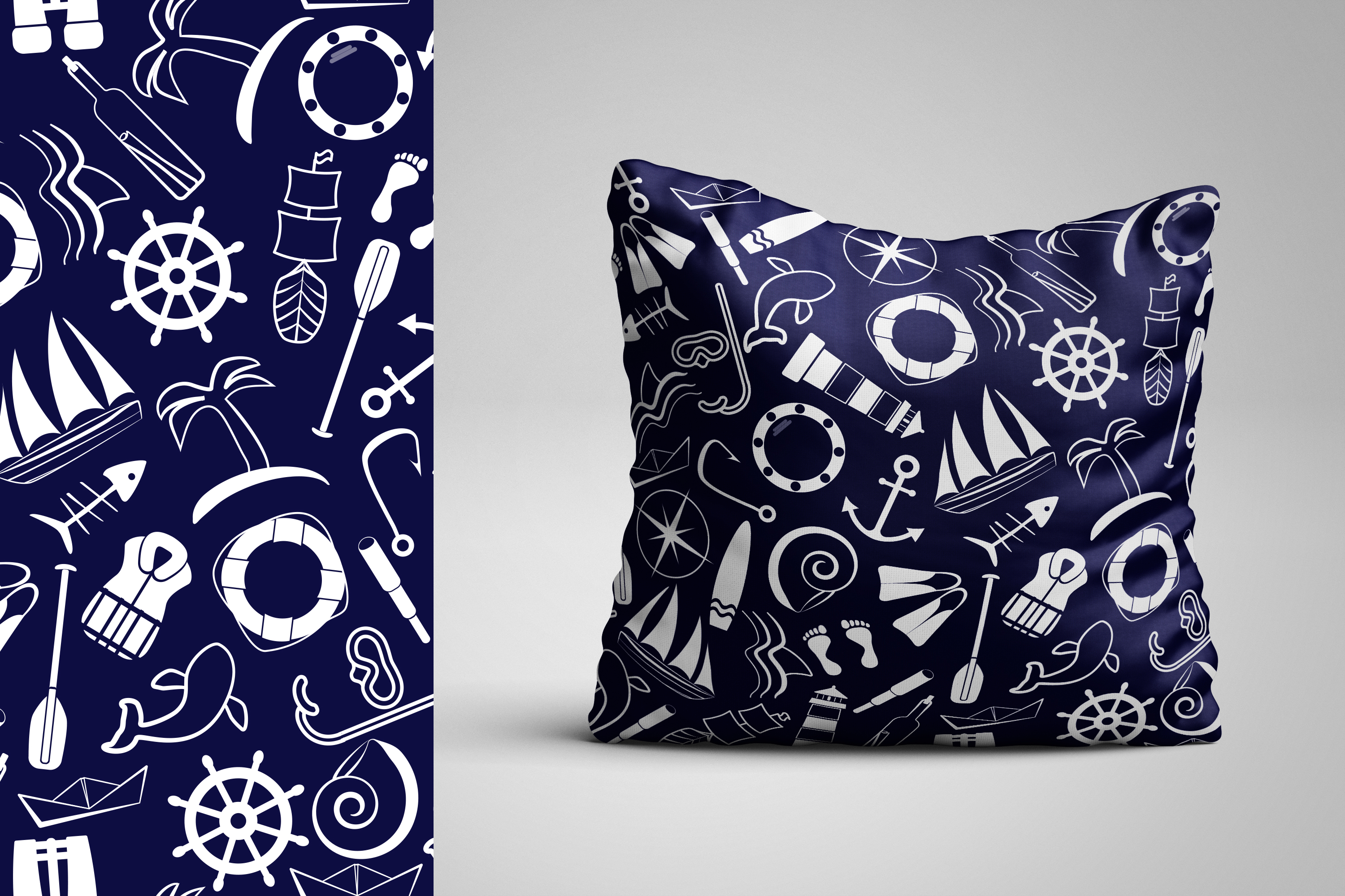 Vector nautical patterns. example image 2