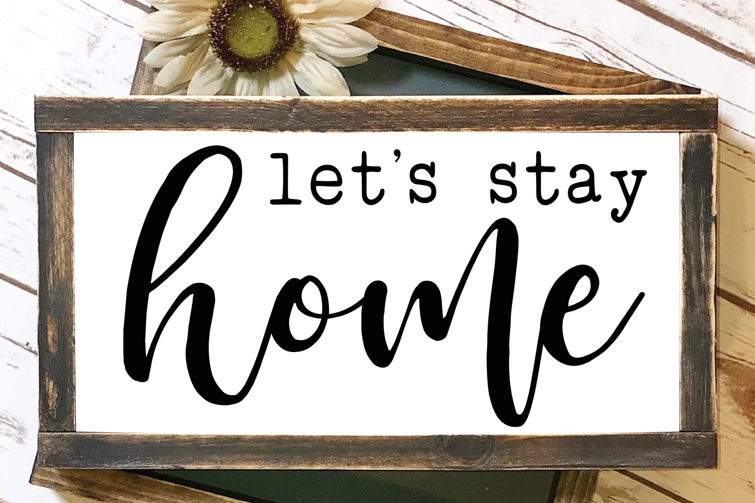 Let's Stay Home SVG example image 4