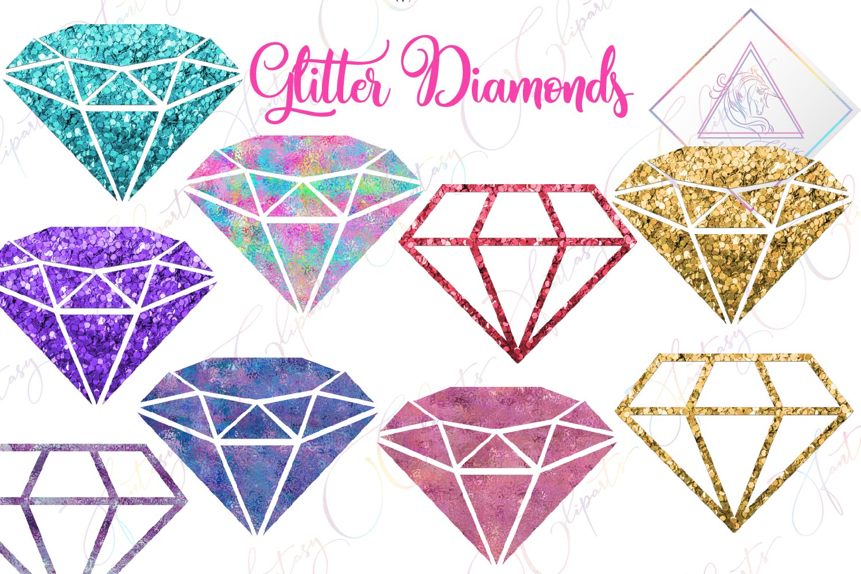 Glitter Diamonds Clipart example image 1