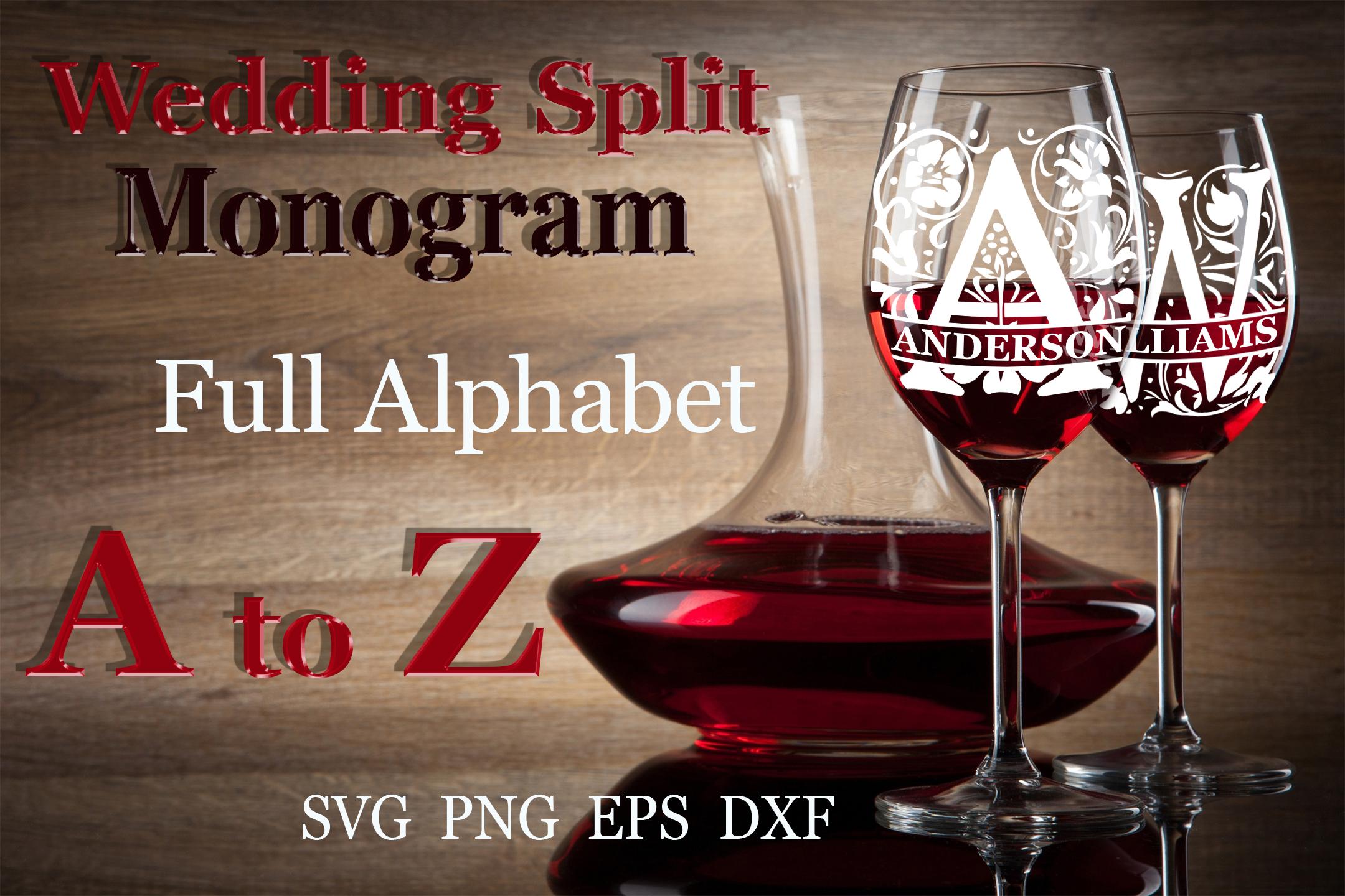26 Wedding split monogram Wedding font SVG Engagement svg example image 1