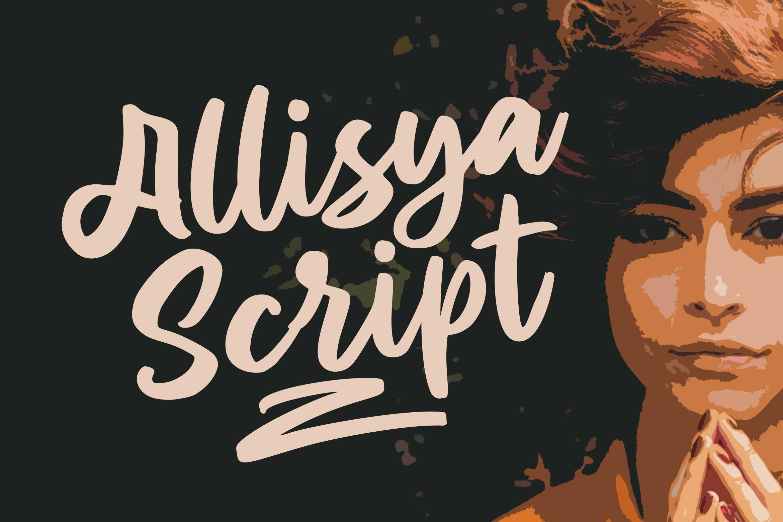 Allisya Brush Script example image 1