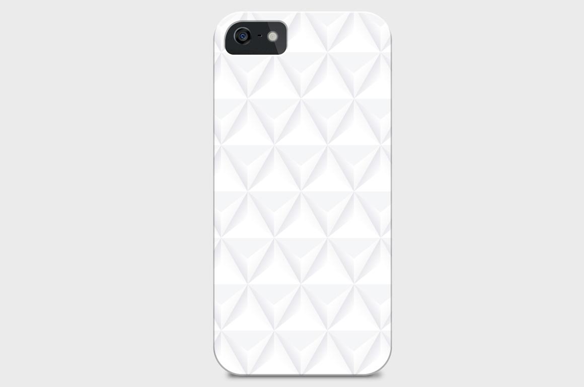 White decorative seamless textures example image 3