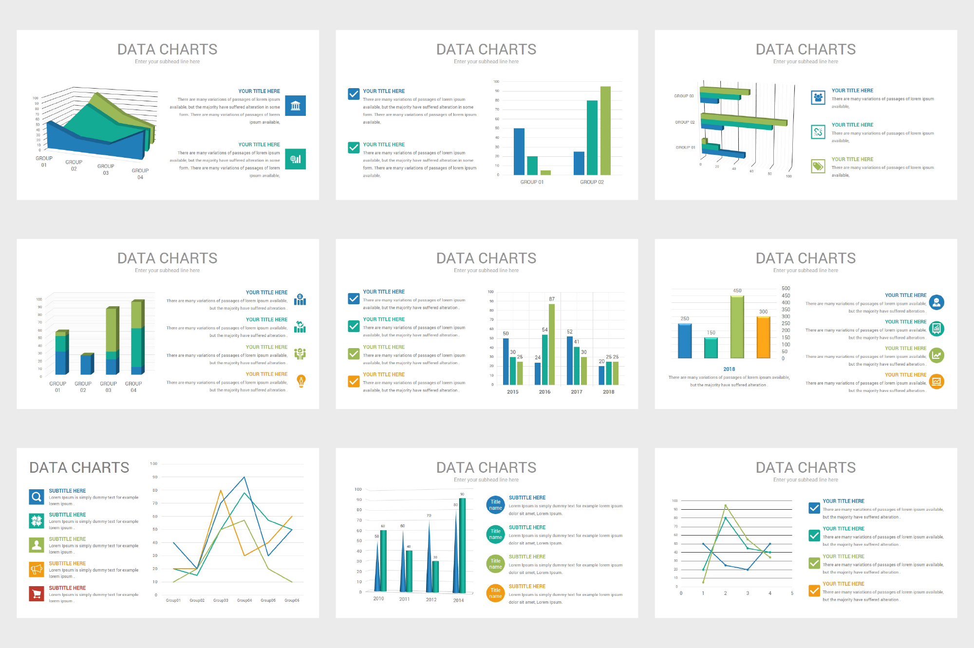 Data Charts PowerPoint Template example image 6
