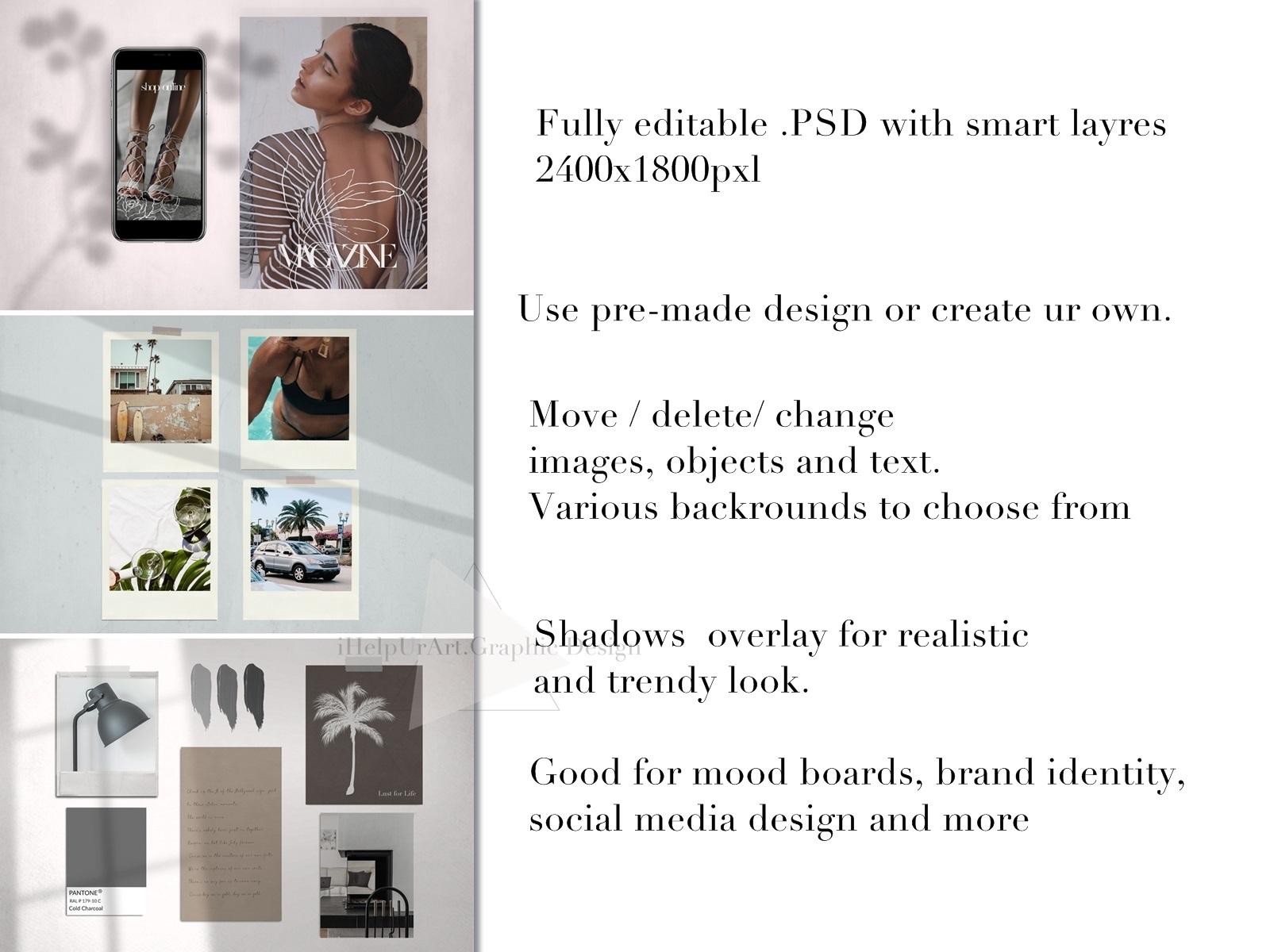 Mood Board Mock Up - PSD - Scene Creator example image 5