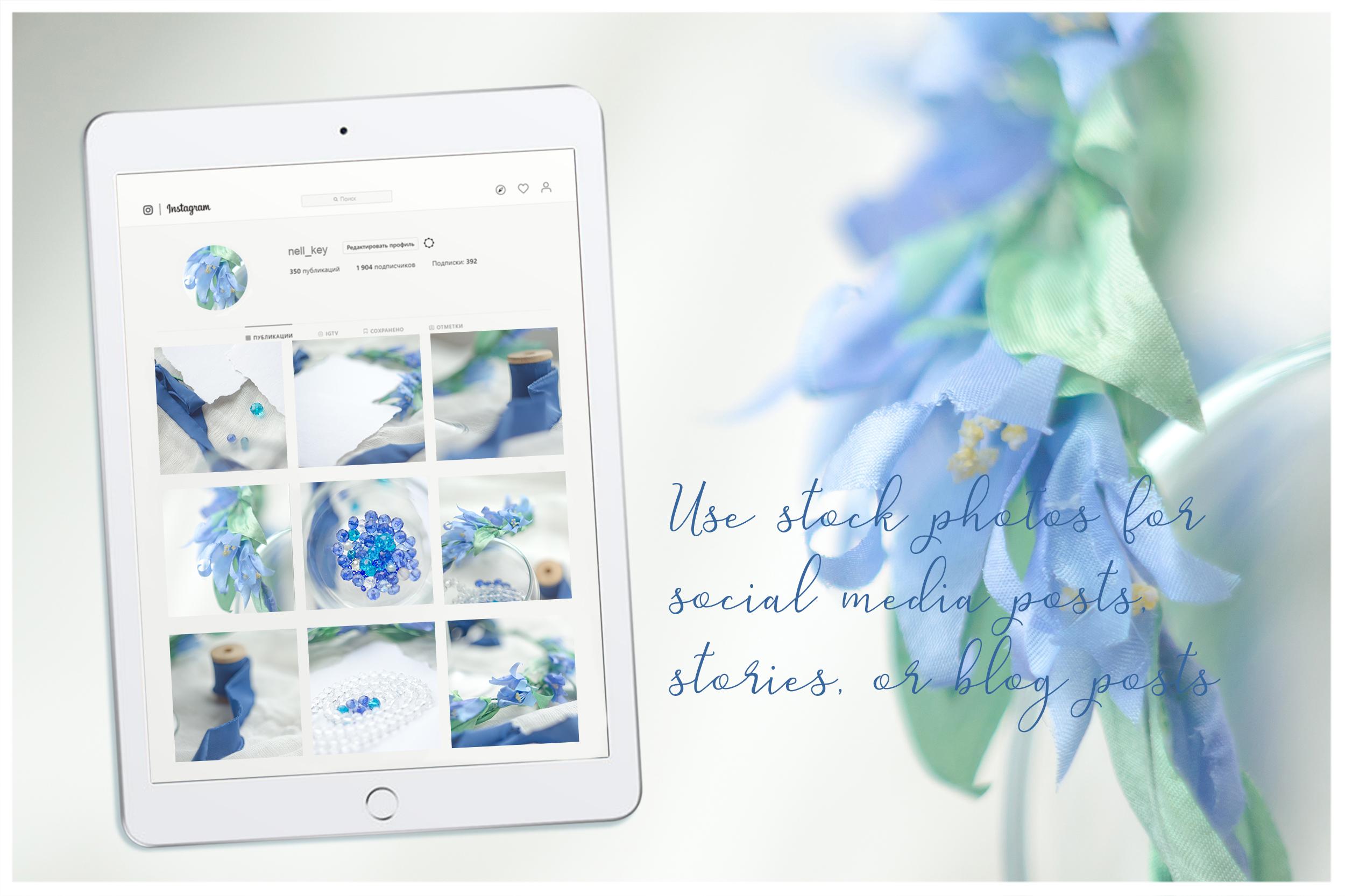 Something blue. Wedding mockups & stock photo bundle example image 15