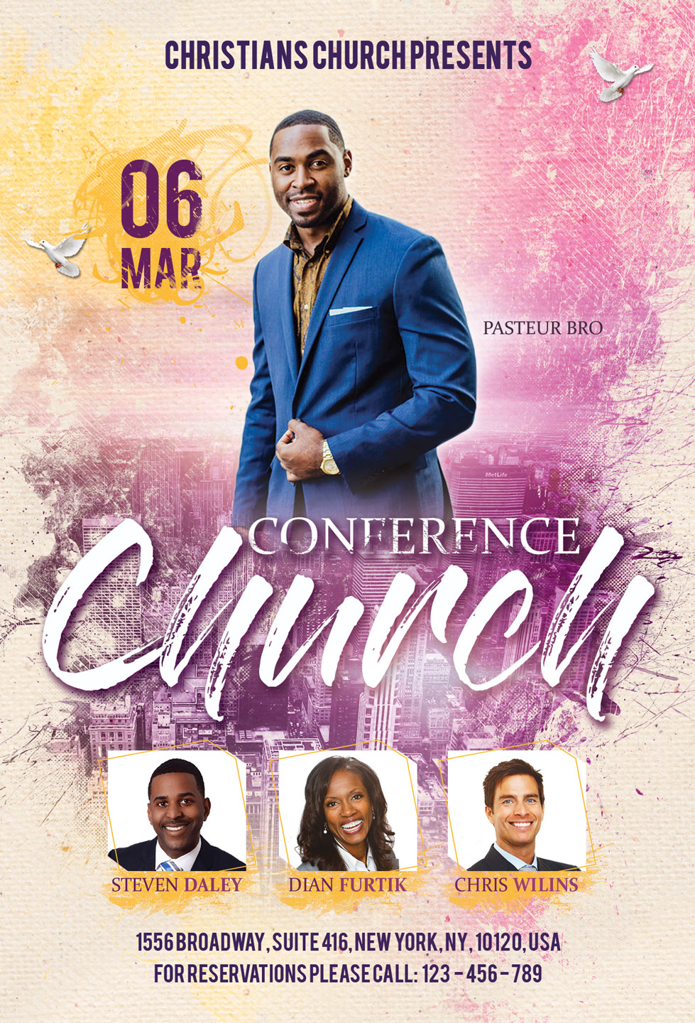 Church Conference Flyer Poster example image 4
