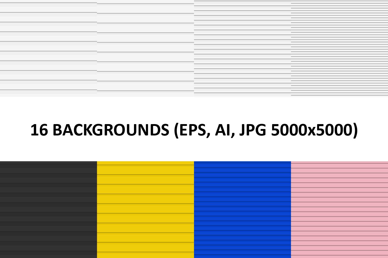 16 Cutout Stripe Backgrounds (AI, EPS, JPG 5000x5000) example image 1