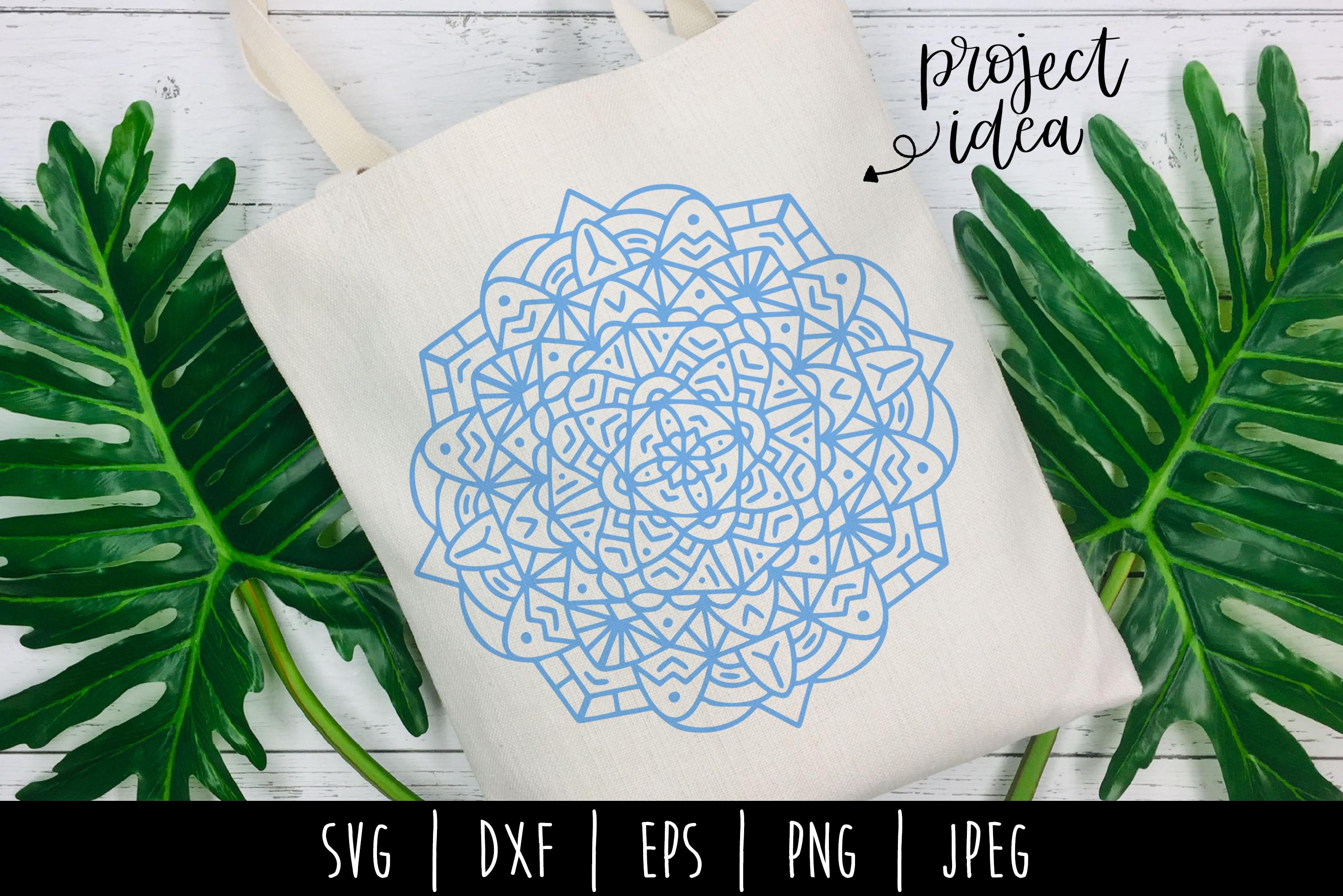 Mandala SVG, DXF, EPS, PNG, JPEG example image 1