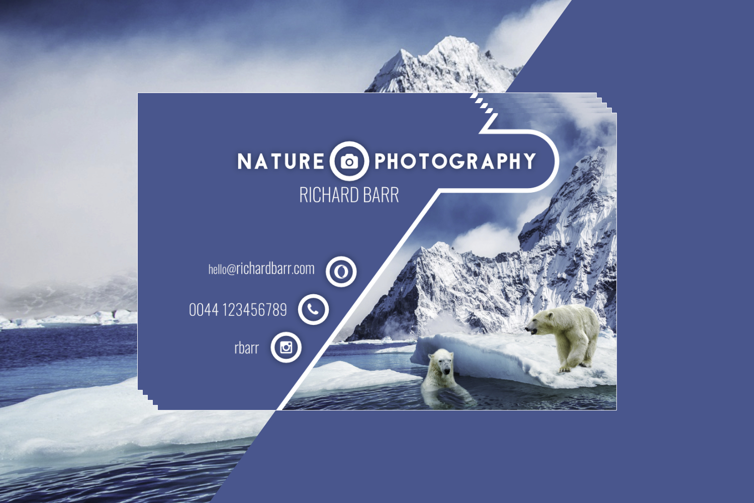 Nature Photography Business Card Set example image 2