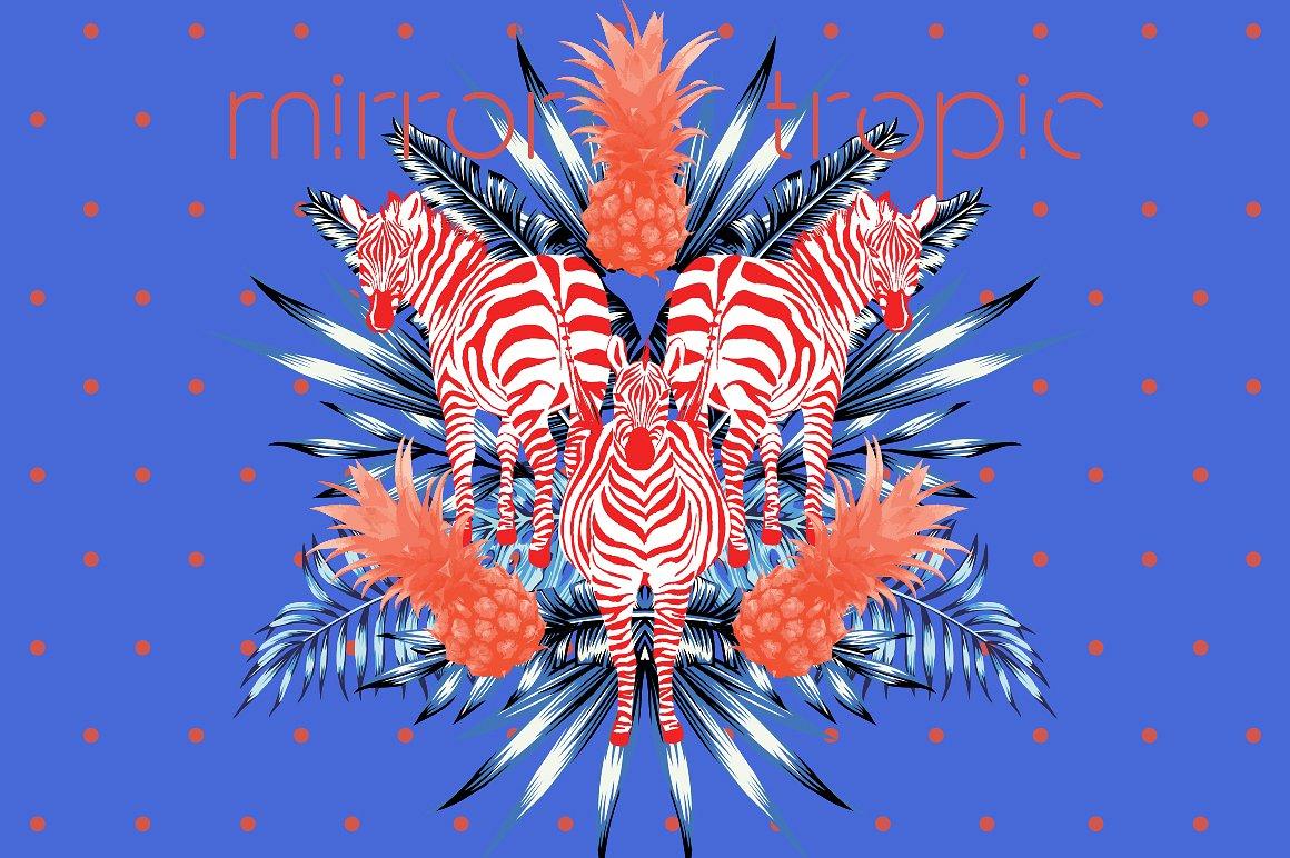 Mirror tropic. Vector prints example image 1